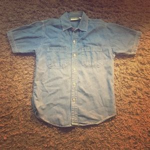 Jeans button up shirt